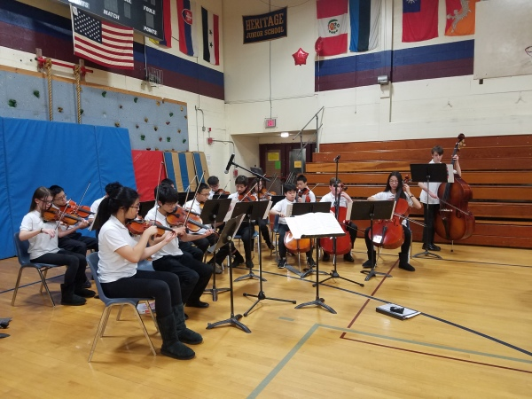 String Ensemble plays at 5th Grade Info Night